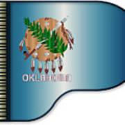 Grand Piano Oklahoma Flag Poster