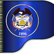 Grand Piano Utah Flag Poster