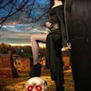 Grave Sunset Poster