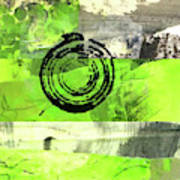 Green Balance No. 4 Poster