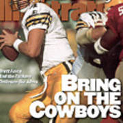 Green Bay Packers Qb Brett Favre, 1996 Nfc Divisional Sports Illustrated Cover Poster