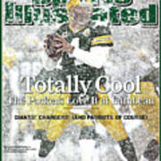 Green Bay Packers Qb Brett Favre, 2008 Nfc Divisional Sports Illustrated Cover Poster