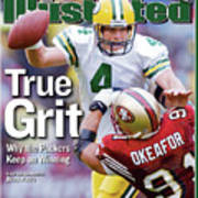 Green Bay Packers Qb Brett Favre... Sports Illustrated Cover Poster