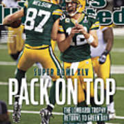 Green Bay Packers Vs Pittsburgh Steelers, Super Bowl Xlv Sports Illustrated Cover Poster