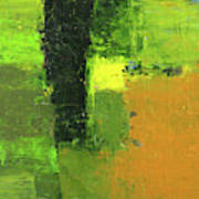 Green Envy Abstract Painting Poster
