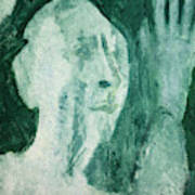 Green Portrait Poster