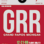 Grr Grand Rapids Luggage Tag II Poster