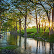 Guadalupe River Sunset Poster