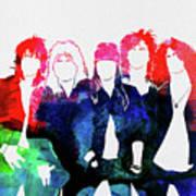 Guns N' Roses Watercolor Poster
