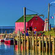 Halls Harbour Nova Scotia Poster