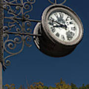 Hanging Clock Poster