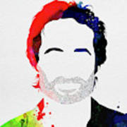 Hank Moody Watercolor Poster