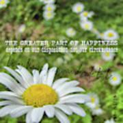 Happy Daisy Quote Poster
