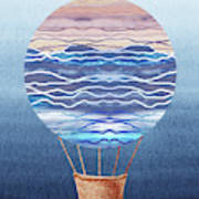 Happy Hot Air Balloon Watercolor Xxvi Poster