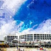 Hard Rock Beach Abstract Poster