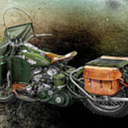 Harley Davidson 1942 Experimental Army Poster