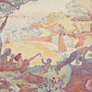 Harmonious Times By Signac Poster