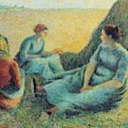 Haymakers Resting, 1891 Poster