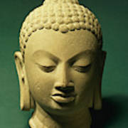 Head Of The Buddha, Sarnath Poster