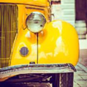 Headlight Lamp  Vintage Car - Vintage Poster