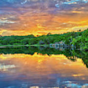Heavenly Reflections In The Hill Country Poster