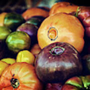 Heirloom Tomatoes At The Farmers Market Poster