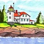 Heron Neck Lighthouse- Maine Poster