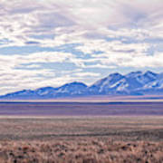 High Plains And Majestic Mountains Poster