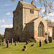 historic Crichton Church and graveyard in Scotland Poster
