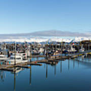 Homer Alaska Fishing Port Poster