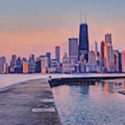 Hook Pier - North Avenue Beach - Chicago Poster