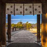 Horyu-ji Temple In Nara, Unesco World Poster