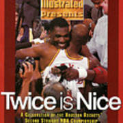 Houston Rockets Hakeem Olajuwon And Clyde Drexler, 1995 Nba Sports Illustrated Cover Poster