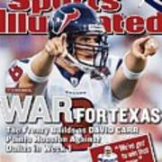 Houston Texans Qb David Carr, 2002 Nfl Hall Of Fame Game Sports Illustrated Cover Poster