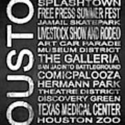 Houston Tx 6 Poster