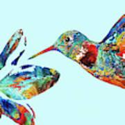Hummingbird Blue - Sharon Cummings Poster