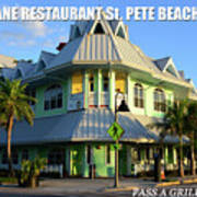 Hurricane Restaurant St. Pete Beach Poster