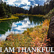 I Am Thankful Poster