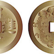 I Ching Coins Poster