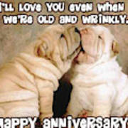I'll Love You Even When We're Old And Wrinkly Poster