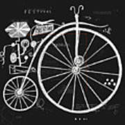 Image Of An Old Bicycle With A Large Poster