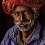 Indian Man From Jaipur Poster