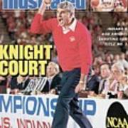 Indiana University Coach Bob Knight, 1987 Ncaa Midwest Sports Illustrated Cover Poster