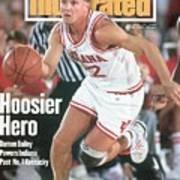 Indiana University Damon Bailey Sports Illustrated Cover Poster