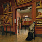 Interior View Of The Metropolitan Museum Of Art When In Fourteenth Street  Poster