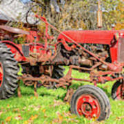 International Harvester F-cub Vintage Tractor Poster