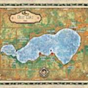 Iowa Clear Lake Custom Map Custom Map Art Poster