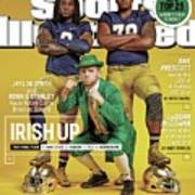 Irish Up 2015 College Football Preview Issue Sports Illustrated Cover Poster