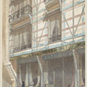 Iron Frame House With Glazed Earthenware  Poster