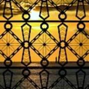 Iron Lattice Pattern St Malo Sunset Poster